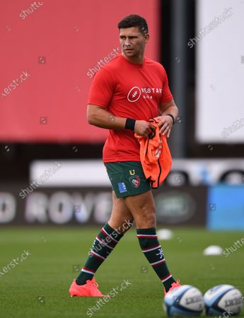 Ben Youngs of Leicester Tigers warms up; Kingsholm Stadium, Gloucester, Gloucestershire, England; English Premiership Rugby, Gloucester versus Leicester Tigers.