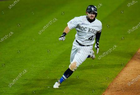 Editorial image of Padres Rockies Baseball, Denver, United States - 29 Aug 2020