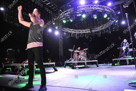 Stock Picture of Michael Fitzpatrick of Fitz and The Tantrums, performs during Concerts In Your Car, in Ventura, Calif