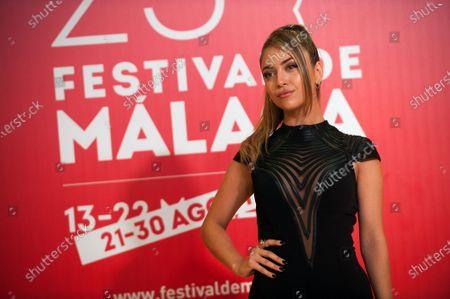 Stock Photo of Spanish singer Ana Mena attends the Malaga Film Festival closing ceremony at Miramar Hotel.