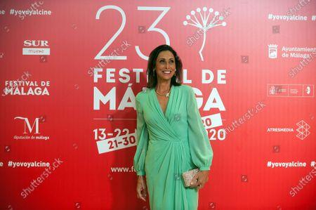 Spanish actress Maria Barranco attends the Malaga Film Festival closing ceremony at Miramar Hotel.