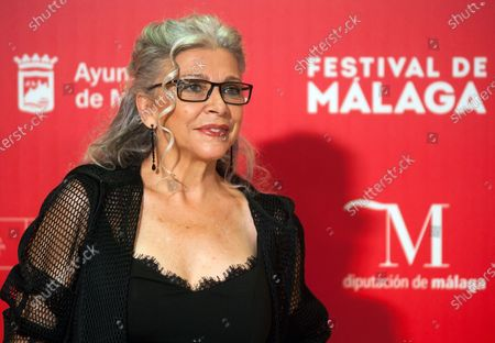 Stock Picture of Spanish actress Kiti Manver attends the Malaga Film Festival closing ceremony at Miramar Hotel.