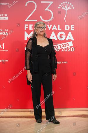 Stock Image of Spanish actress Kiti Manver attends the Malaga Film Festival closing ceremony at Miramar Hotel.