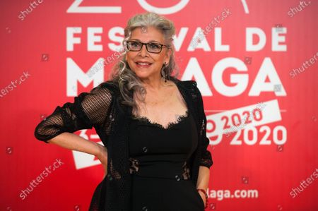 Spanish actress Kiti Manver attends the Malaga Film Festival closing ceremony at Miramar Hotel.