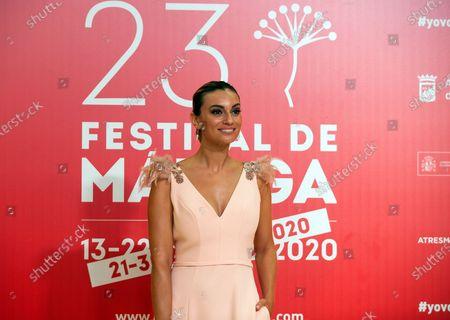 Spanish actress Norma Ruiz attends the Malaga Film Festival closing ceremony at Miramar Hotel.