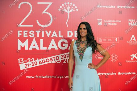 Stock Picture of Spanish singer Nuria Fergo attends the Malaga Film Festival closing ceremony at Miramar Hotel.