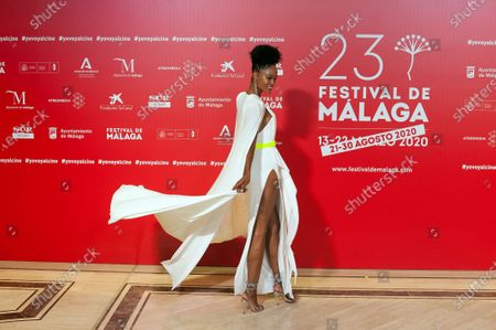 Stock Photo of Congolese actress Godeliv Van den Brandt attends the Malaga Film Festival closing ceremony at Miramar Hotel.