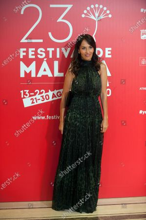 Stock Image of British actress Dolores Chaplin attends the Malaga Film Festival closing ceremony at Miramar Hotel.