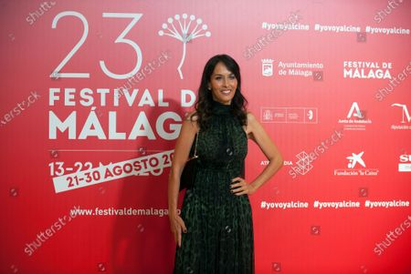 Stock Picture of British actress Dolores Chaplin attends the Malaga Film Festival closing ceremony at Miramar Hotel.