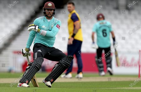 Ben Foakes of Surrey keeps an eye on the ball whilst running between wickets during Surrey vs Essex Eagles, Vitality Blast T20 Cricket at the Kia Oval on 30th August 2020
