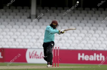 Ben Foakes of Surrey skies a bouncer from Matt Quinn and is caught out during Surrey vs Essex Eagles, Vitality Blast T20 Cricket at the Kia Oval on 30th August 2020