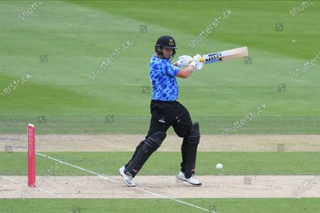Luke Wright of Sussex batting during the Vitality T20 Blast South Group match between Sussex County Cricket Club and Hampshire County Cricket Club at the 1st Central County Ground, Hove