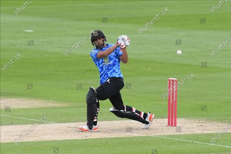 Ravi Bopara of Sussex batting during the Vitality T20 Blast South Group match between Sussex County Cricket Club and Hampshire County Cricket Club at the 1st Central County Ground, Hove