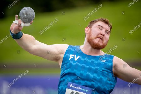 John Kelly of Finn Valley AC competing in the Men's Shot Put