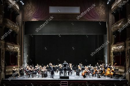 Editorial image of Renaud Capucon concert, Nice, France  - 29 Aug 2020