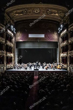 Stock Photo of Renaud Capucon concert with the Philharmonique de Nice conducted by Lionel Bringuier