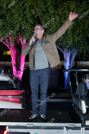 Culver City, CA - August 30, 2020 - Jon Hamm seen at the BABY DRIVER screening at the Sony Pictures drive-in on the historic Sony Pictures lot.