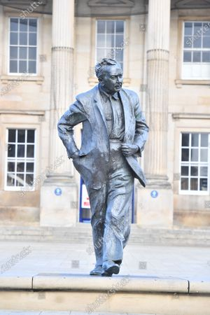The statue of Lord Wilson of Rievaulx, which cost £70,000, stands in St George's Square in his home town of Huddersfield. Former Prime Minister Harold Wilson, bronze statue.The statue, designed by sculptor Ian Walters, is based on photographs taken in 1964 and depicts Lord Wilson in walking pose at the start of his first term as prime minister.