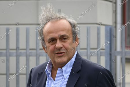 Former UEFA president Michel Platini walks in front of the building of the Office of the Attorney General of Switzerland, in Bern, Switzerland, 31 August 2020. Former UEFA president Michel Platini and former FIFA president Sepp Blatter each face interrogation from the Swiss public prosecutor as part of the proceedings opened in 2015 over a payment of 2 million Swiss francs. Platini's hearing is on 30 August, Blatter's hearing on 01 September.