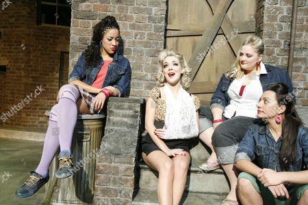 'Little Shop of Horrors' -  Jenny Fitzpatrick (Ronette), Sheridan Smith (Audrey), Katie Kerr (Chiffon), Melitsa Nicola (Crystal)