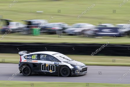 Sir Chris Hoy MBE,  heading into Devils Elbow during the 5 Nations British Rallycross at Lydden Hill Race Circuit on 31st August 2020