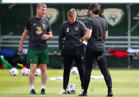 Manager Stephen Kenny with assistant coach Damien Duff and coach Keith Andrews