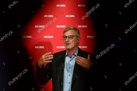 Co-Chairman of the German LEFT party (DIE LINKE) Bernd Riexinge attends a press conference in Berlin, Germany, 31 August 2020. Katja Kipping and Bernd Riexinger announced their resignation from the party's leadership.