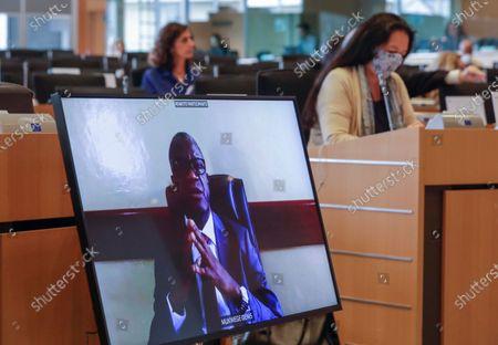 Editorial photo of Nobel Prize laureate Denis Mukwege at EU Parliament Human right committee, Brussels, Belgium - 31 Aug 2020