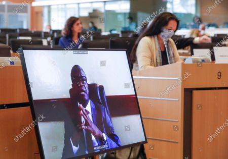 Editorial picture of Nobel Prize laureate Denis Mukwege at EU Parliament Human right committee, Brussels, Belgium - 31 Aug 2020