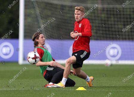 Editorial photo of Wales U21s Football Training - 31 Aug 2020