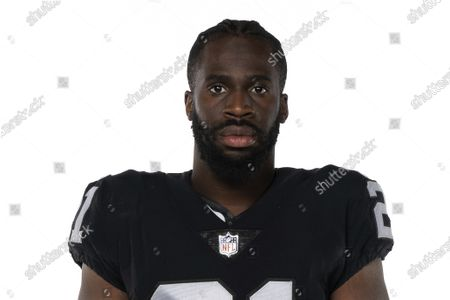Stock Photo of This is a 2020 photo of Prince Amukamara of the Las Vegas Raiders NFL football team. This image reflects the Las Vegas Raiders active roster as of when this image was taken