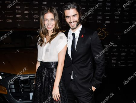 Nik Xhelilaj (R) and model Nicole Poturalski arrive for the 25th Opera Gala of the German Aids Foundation in Berlin, Germany, 03 November 2018 (issued on 31 August 2020). The gala is one of the most important charity events to be hosted in the German capital.