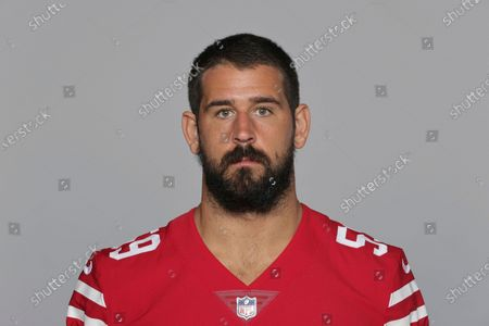 This is a 2020 photo of Joe Walker of the San Francisco 49ers NFL football team. This image reflects the San Francisco 49ers active roster as of when this image was taken