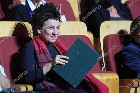 Literature Nobel Prize Laureate Olga Tokarczuk attends the 'European Poet of Freedom' award ceremony at the Baltic Philharmonic in Gdansk, Poland, 31 August 2020. Ceremonies commemorating the 40th anniversary of August 1980 Agreement and the establishment of the Solidarity trade union are held in Gdansk. The Gdansk Agreement and the trade union Solidarity were between the striking workers and the communist authorities in Poland, which led to the establishment of the Independent Self-Governing Trade Union Solidarity.