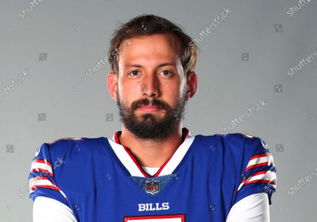 Stock Image of This is a 2020 photo of Davis Webb of the Buffalo Bills NFL football team. This image reflects the Buffalo Bills active roster as of when this image was taken