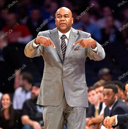 , 2020, Legendary Georgetown coach John Thompson Jr., who led Georgetown to the 1984 national championship and three Final Fours, has died at age 78. FILE PICTURE: , 2017, New York, New York, USA: Georgetown's head coach JOHN THOMPSON III on the sideline during first round Big East Tournament play at Madison Square Garden in New York City. St Johns Red Storm defeated the Georgetown Hoyas 74-73