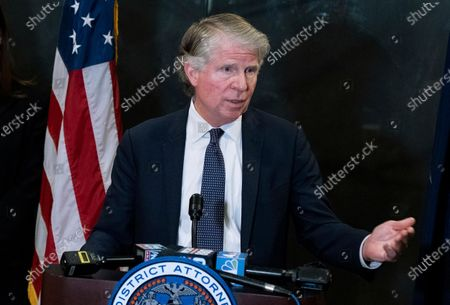 Manhattan District Attorney Cyrus Vance Jr., speaks at a news conference in New York. A federal appeals court is set to hear arguments Tuesday, Sept. 1, 2020, in President Donald Trump's latest attempt to prevent Vance from getting his tax returns