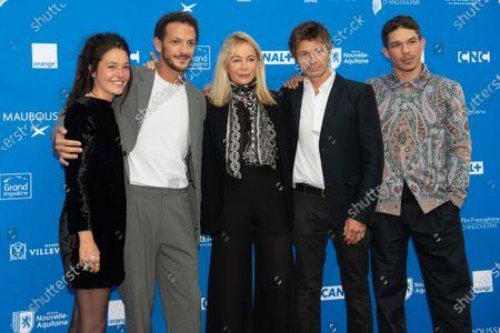 Stock Image of Ludovic Bergery, Emmanuel le Beart, Marie Zabucovek, Vincent Dedienne and Sandor Funtek