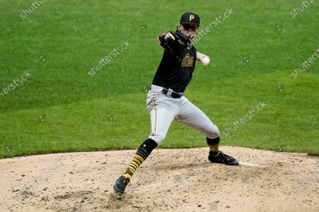 Pittsburgh Pirates relief pitcher Sam Howard throws during the fifth inning of a baseball game against the Milwaukee Brewers, in Milwaukee