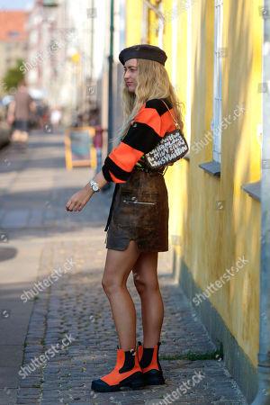 Emili Sindlev arriving at Ganni SS21