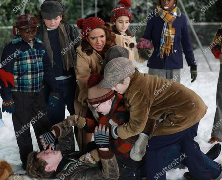 Sacha Carlson as Ensemble/Scut Farkus, Maya Rudolph as Mother Parker and Andy Walken as Ralphie Parker