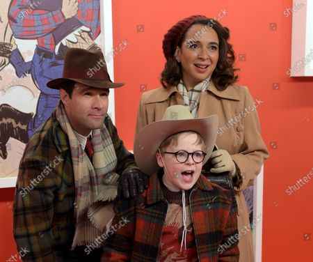 Chris Diamantopoulos as Old Man Parker, Maya Rudolph as Mother Parker and Andy Walken as Ralphie Parker