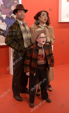 A CHRISTMAS STORY LIVE!: L-R: Cast members Chris Diamantopoulos, Maya Rudolph and Andy Walken during FOX's live musical event, A CHRISTMAS STORY LIVE!, airing Sunday, Dec. 17 (7:00-10:00 PM ET live/PT tape-delayed) on FOX. CR: Ray Mickshaw/ FOX