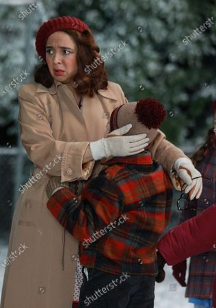 Maya Rudolph as Mother Parker and Andy Walken as Ralphie Parker