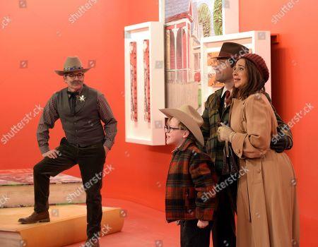 Matthew Broderick as Ralphie as an Adult, Andy Walken as Ralphie Parker, Chris Diamantopoulos as Old Man Parker and Maya Rudolph as Mother Parker