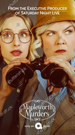 Mapleworth Murders (2020) Poster Art. Hayley Magnus as Heidi and Paula Pell as Abigail Mapleworth