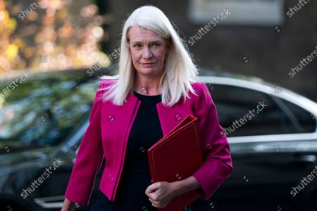 Minister without Portfolio Amanda Milling arrives to attend a Cabinet Meeting in the Foreign and Commonwealth Office, Central London, Britain, 01 September 2020.