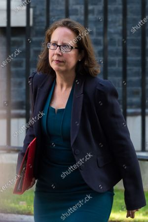 Leader of the House of Lords and Lord Privy Seal Natalie Evans arrives in Downing Street in central London to attend a Cabinet meeting as Parliament returns after summer recess amid the ongoing Coronavirus pandemic.