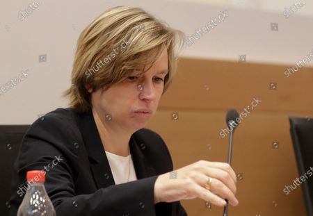 Executive Director of EUROPOL and former boss of Belgium Police, Catherine De Bolle  attends a hearing on Chovanec case by Interior and justice committee of Belgium Federal Parliament in Brussels, Belgium, 01 September 2020. The proceedings involve  the case of the Slovakian businessman Jozef Chovanec, who died in 2018 after a crackdown in a police cell at Charleroi airport, when Jan Jambon, now Flemish Minister president, who testified was Federal Minister of the Interior. Slovakia's foreign minister has condemned the violent treatment of a Slovak citizen by police officers at the Belgian airport and demanded a thorough investigation.