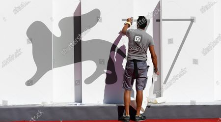 Final preparations are underway at the Lido event site ahead of the 77th annual Venice International Film Festival, in Venice, Italy, 01 September 2020. The movie 'Lacci' (The Ties) by Italian director Daniele Luchetti will open the film festival that runs from 02 to 12 September 2020.